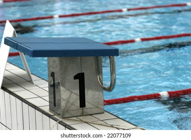 olympic swimming pool ready for sports competition