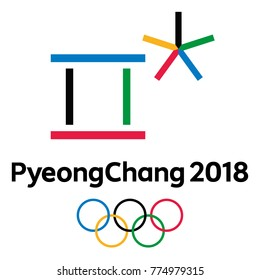 Olympic Winter Games PyeongChang 2018 official logo