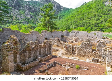 Olympos Ancient town is a short bus ride away from most of the Mediterranean resort towns just one and a half hours from Antalya.