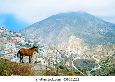 Olympos, Karpathos, Greece - July 2014