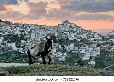OLYMPOS, KARPATHOS,GREECE - November 3, 2006 : Olympos is a village and a former community on the island of Karpathos.