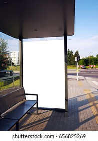 OLYMPUS DIGITAL CAMERAInside the bus tram stop, shelter, white empty place for street ads, advertisement board, mock up, mockup, signage, city, rails, rail station