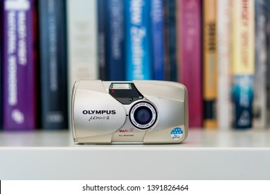 The Olympus Mju II, also known as Olympus Stylus Epic in the United States, is a popular 35mm film point and shoot camera originally manufactured in 1997. Photographed: May, 2019.