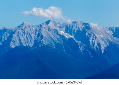 Olympus Mountain in Greece. Olympus Mountain in Greece. Olympus was notable in Greek mythology as the home of the Greek gods, on the Mytikas peak