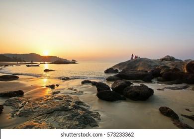 Om beach, Gokarna India landscape