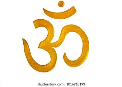 Om Symbol,Clipping path,Gold