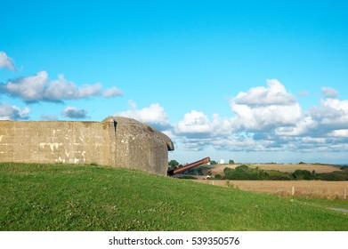 Omaha beach Normandy France German bunker