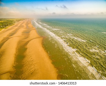 Omaha beach and Normandy shore in france