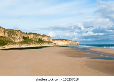 Omaha Beach is one of the five Landing beaches in the Normandy landings on 6 June 1944, during World War II. Omaha is located on the coast of Normandy, France,