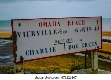 Omaha Beach Signboard