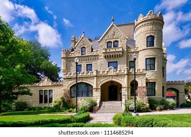 Omaha NE, USA - 2018.05.21 - The Joslyn Castle in Omaha.