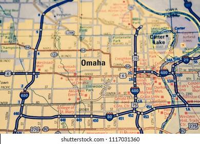 Omaha on USA map