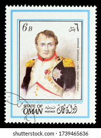 OMAN - CIRCA 1971 : Cancelled postage stamp printed by Oman, that shows Painting Portrait of Napoleon, circa 1971.