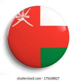 Oman flag icon on white. Clipping path included.