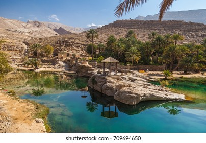 Oman, the oasis of wadi bani Khalid