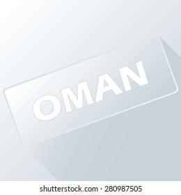 Oman unique button for any design