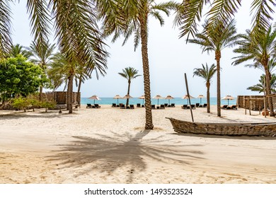 Omani Beach at Zighy Bay in Musandam, Oman.