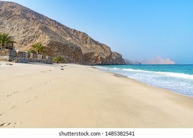 Omani Coast Landscape in Zighy Bay, Musandam, Oman.