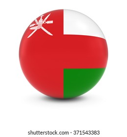 Omani Flag Ball - Flag of Oman on Isolated Sphere