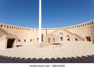 Omans most visited national monument - the fort of Nizwa. Sultanate of Oman, Middle East