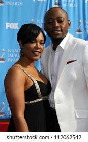 Omar Epps and wife Keisha at the 38th Annual NAACP Image Awards. Shrine Auditorium, Los Angeles, CA. 03-02-07