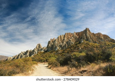 Omarama Clay Cliffs, Scenic Reserve,  New Zealand.