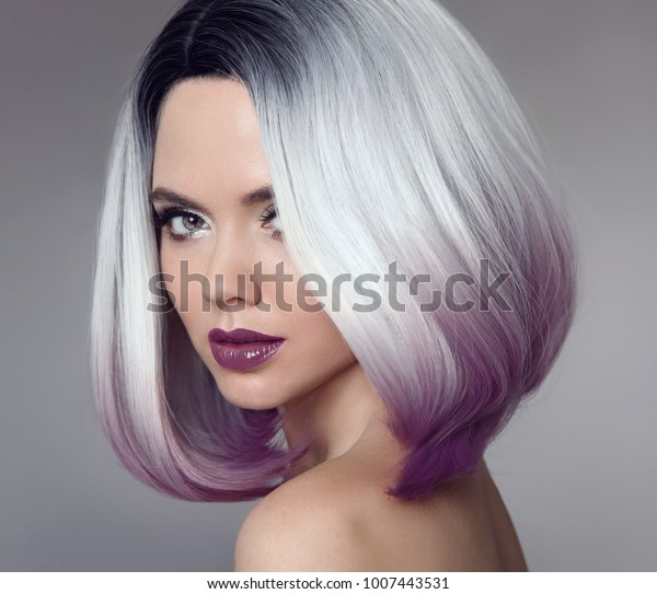 Ombre Bob Short Hairstyle Beautiful Hair Stock Photo Edit Now 1007443531