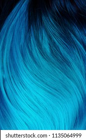 Ombre hair dying black to turquoise, bright dyed hair, vivid colors, turquoise hair, blue hair, salon advertising