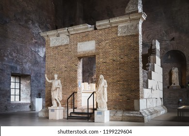 ome, Italy – March 21, 2018: Inside Palazzo Massimo alle Terme, now it is the National Roman Museum houses the ancient art