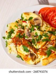 omelet with mushroom