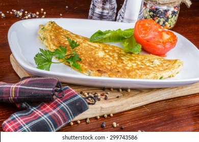 Omelet with tomato