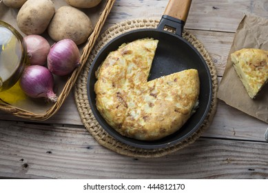 Omelette of potatoes (typical spanish)