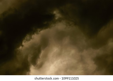 Ominous dark storm clouds and sunset in Kentucky