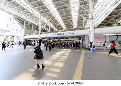 Omiya, Saitama, Japan - June 11, 2017: Saitama-Shintoshin Station: Saitama-Shintoshin Station is a railway station in Saitama, Japan, operated by East Japan Railway Company.