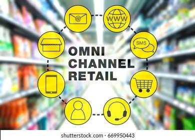 Omni Channel Retail Marketing Concept