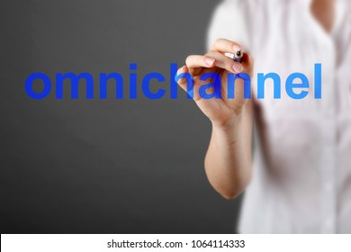 Omnichannel retail concept. Mobile payments online shopping and customer network connection, m-banking