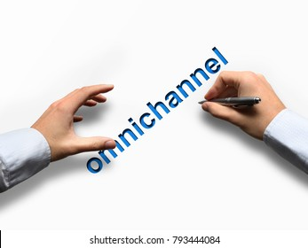 Omnichannel retail concept. Using mobile payments online shopping and customer network connection, m-banking