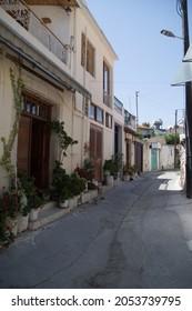 omodos steet village in cyprus island