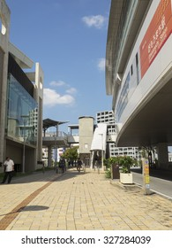 Omoromachi in Naha city, Japan - October 14, 2015: Omoromachi is the re-developed town in Naha city. Until 1987 year, there was a base of the US military here.