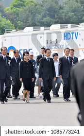 On 6, June 2011,  South Korean 17th President Lee Myung-bak and First lady Kim Yoon-ok attended memorial day ceremony held at the National Cemetery in Seoul, South Korea