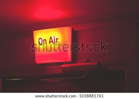 on air sign light box hang stock photo edit now 1038881761