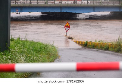 On August 8, 2020, heavy rains flooded the Underpass Road in Palbok-dong, Jeonju, North Jeolla Province, South Korea.