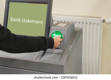 On the bank statement printer