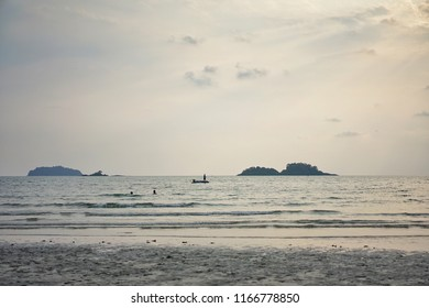 On the beach at Koh Chang, Trat in Thailand
