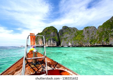 On the boat at phi phi island, Thailand