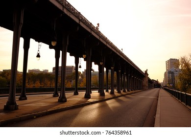 On the bridge in Paris, France