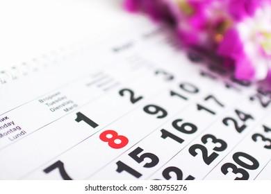on the calendar March 8