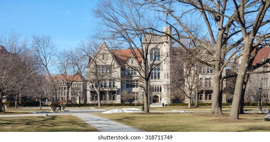 On the campus of the University of Chicago in Hyde Park, Chicago, IL, USA.