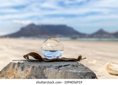 On Cape Town Beach with Glass Ball