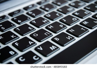 on the computer keyboard